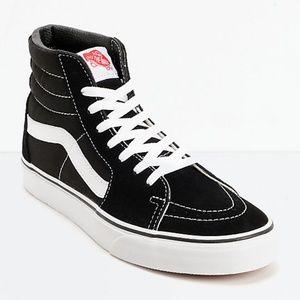 Vans Sk8-Hi Black & White Skate Shoes M 8.5 W 10